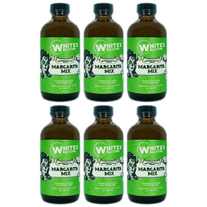 Six Bottle Pack White's Elixirs Fresh Margarita Cocktail Mix 8oz