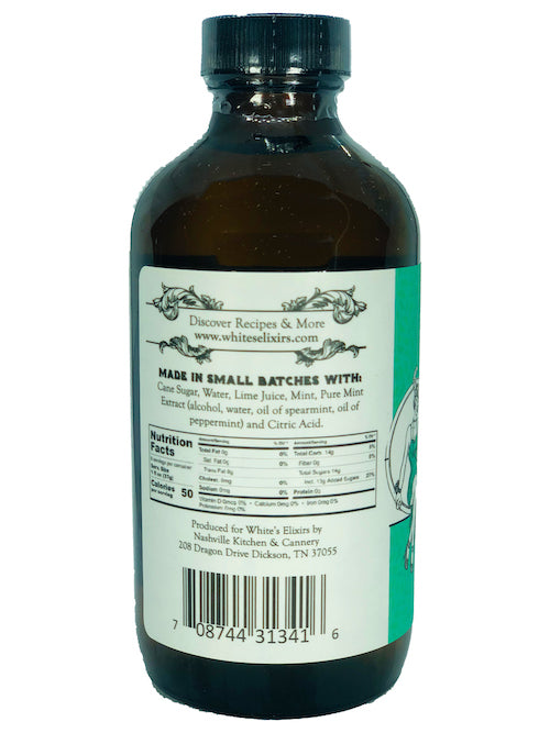 White's Elixirs Mojito Craft Cocktail Mix 8oz Ingredients