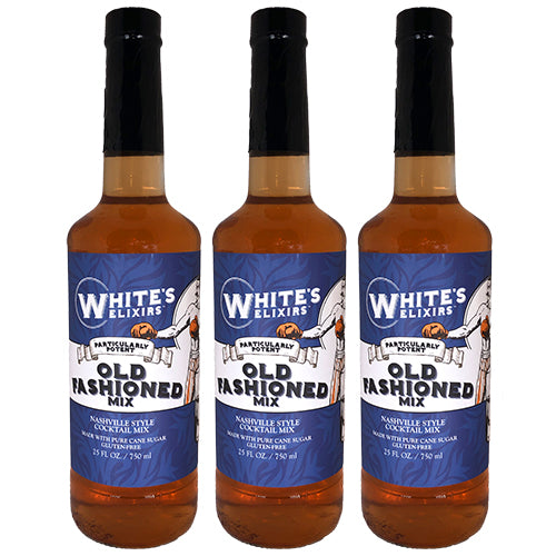 White's Elixirs Craft Cocktails Old Fashioned Mix 750ML Triple Pack