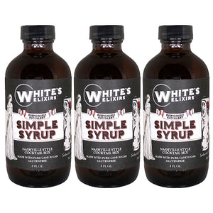 White's Elixirs Craft Cocktail Mix Simple Syrup 8 oz Triple Pack