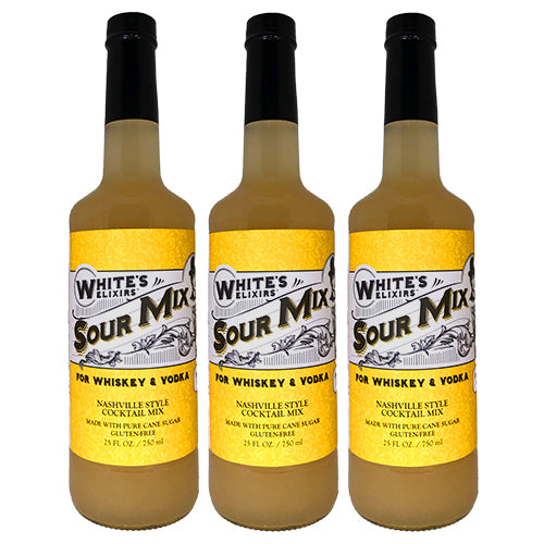 White's Elixirs Sour Cocktail Mix 750 mL Triple Pack
