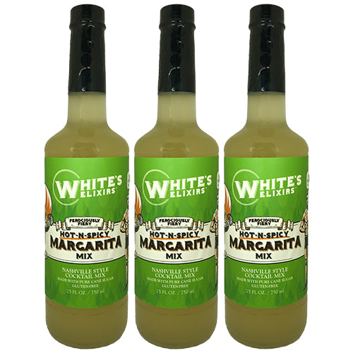 White's Elixirs Spicy Margarita Cocktail Mix 750 mL Triple Pack