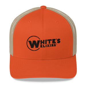 White's Elixirs Hat Black Logo