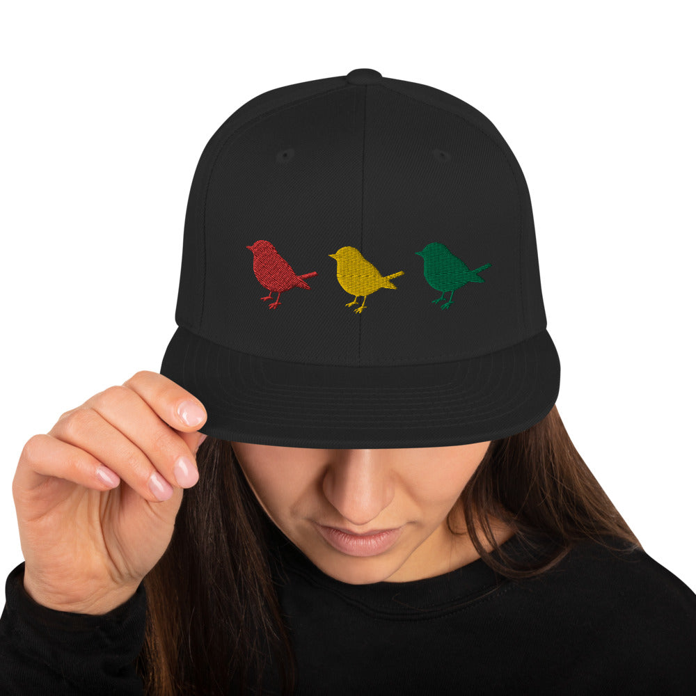Yaadbrand Three Little Birds Snapback Hat