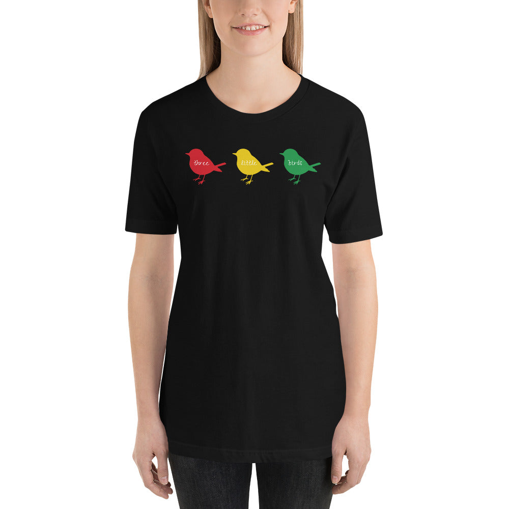 Yaadbrand Three Little Birds Unisex T-Shirt