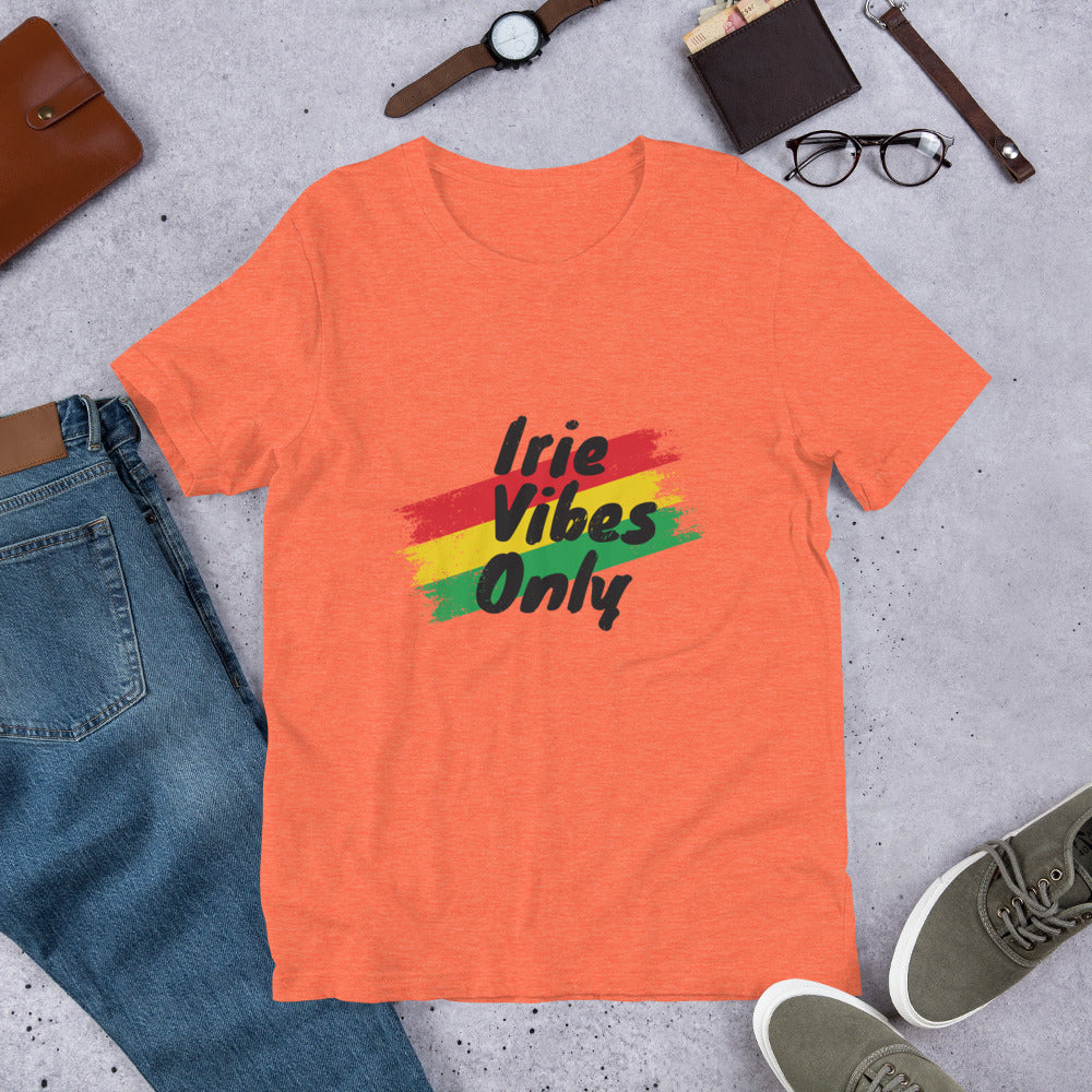 Yaadbrand Irie Vibes Only Unisex T-Shirt