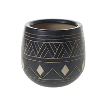 Load image into Gallery viewer, Black Tribal Pot