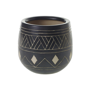 Black Tribal Pot