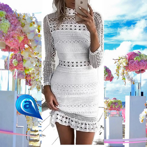 💖Elegant White Mini dress!