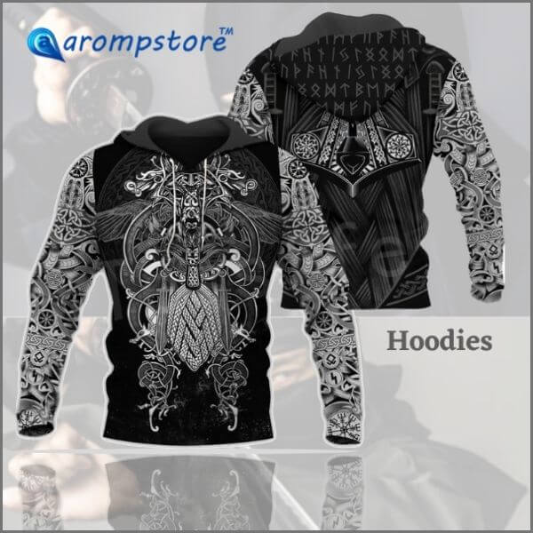 😎3D Print Zipper/Hoodies/Sweatshirts Viking Warriors