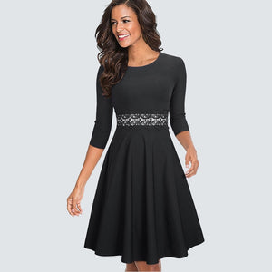 Women Vintage Elegant Lace Dress