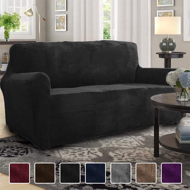 🎡 High Grade Velvet Plush Sofa Cover 🎡