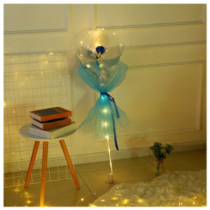 🎁🎈 AWARD WINNING LED Luminous Balloon Rose Bouquet 🌹