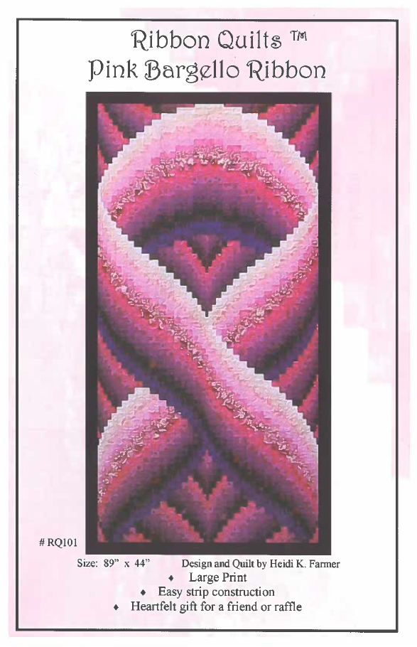 Pink Bargello Ribbon Pattern