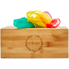 Load image into Gallery viewer, Baby Tissue Box Toy with Colorful Scarves