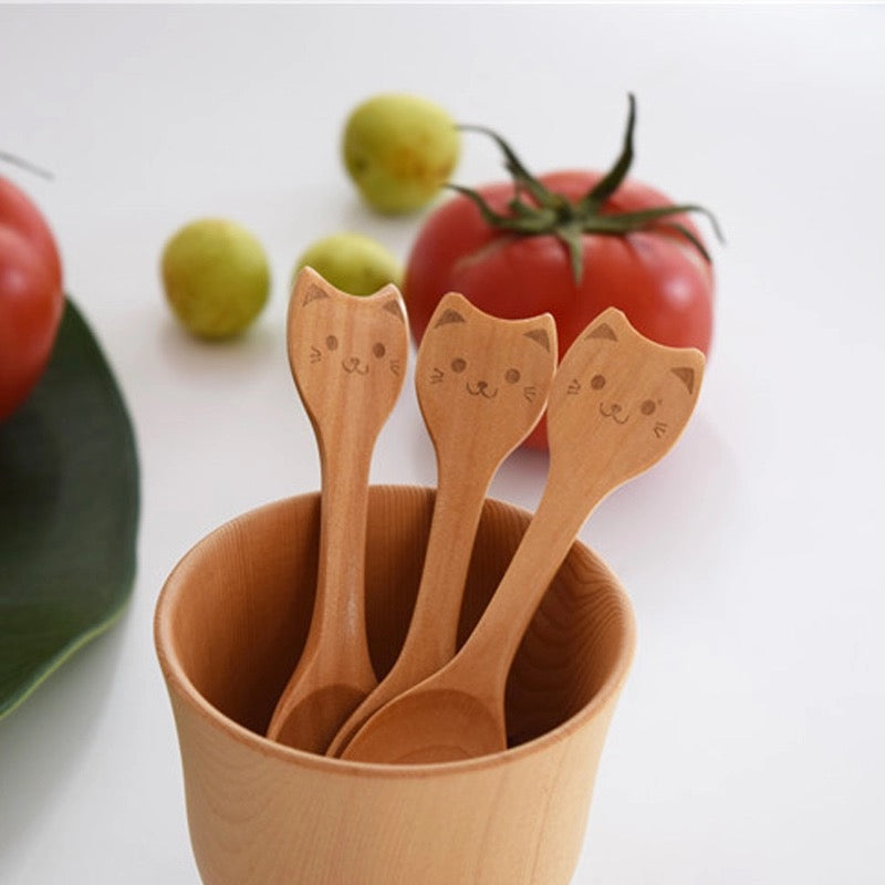 Natural Wooden Baby Spoons 3-pack