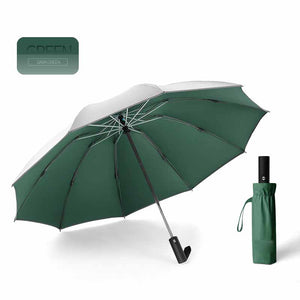 Fully Automatic Three-Fold Reverse Umbrella Reflective Strip LED Umbrella,Windproof Automatic Folding Inverted Umbrella