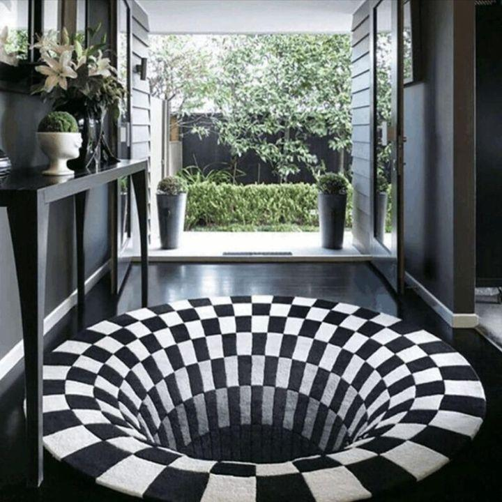 The Vortex Illusion Rug