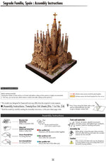 DIY Sagrada Familia, Spain Craft Paper Model Architecture 3D DIY Education Toys Handmade Adult Puzzle Game