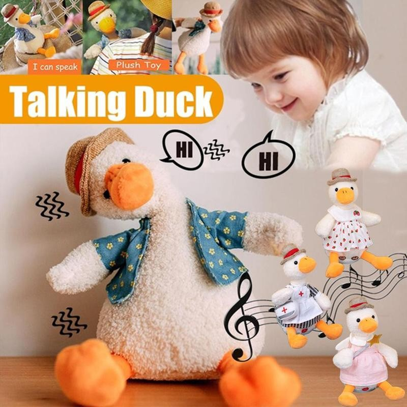 Talking Repeat Duck Electric Plush Toy