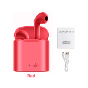 I7s TWS Wireless Bluetooth Earphone Stereo Earbud Headset With Charging Box For IPhone 6 7 8 X Android IOS Systems