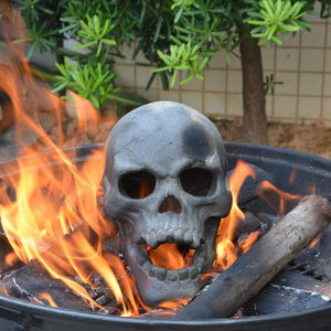 🔥Buy 5 Free 3 🔥Halloween Flash Sale-Terrifying Human Skull Fire Pit
