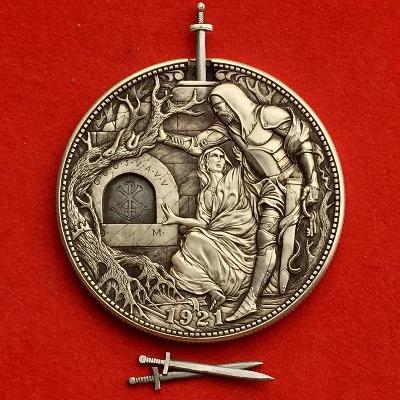 【40% OFF】Handmade Art Coin Carved by Roman Booteen