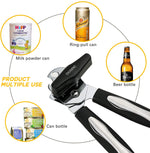 Can Opener Manual, Professional Heavy Duty Can Opener Stainless Steel, Ergonomic Smooth Edge Jar/Bottle Opener Ultra Sharp with Easy Turn Knob