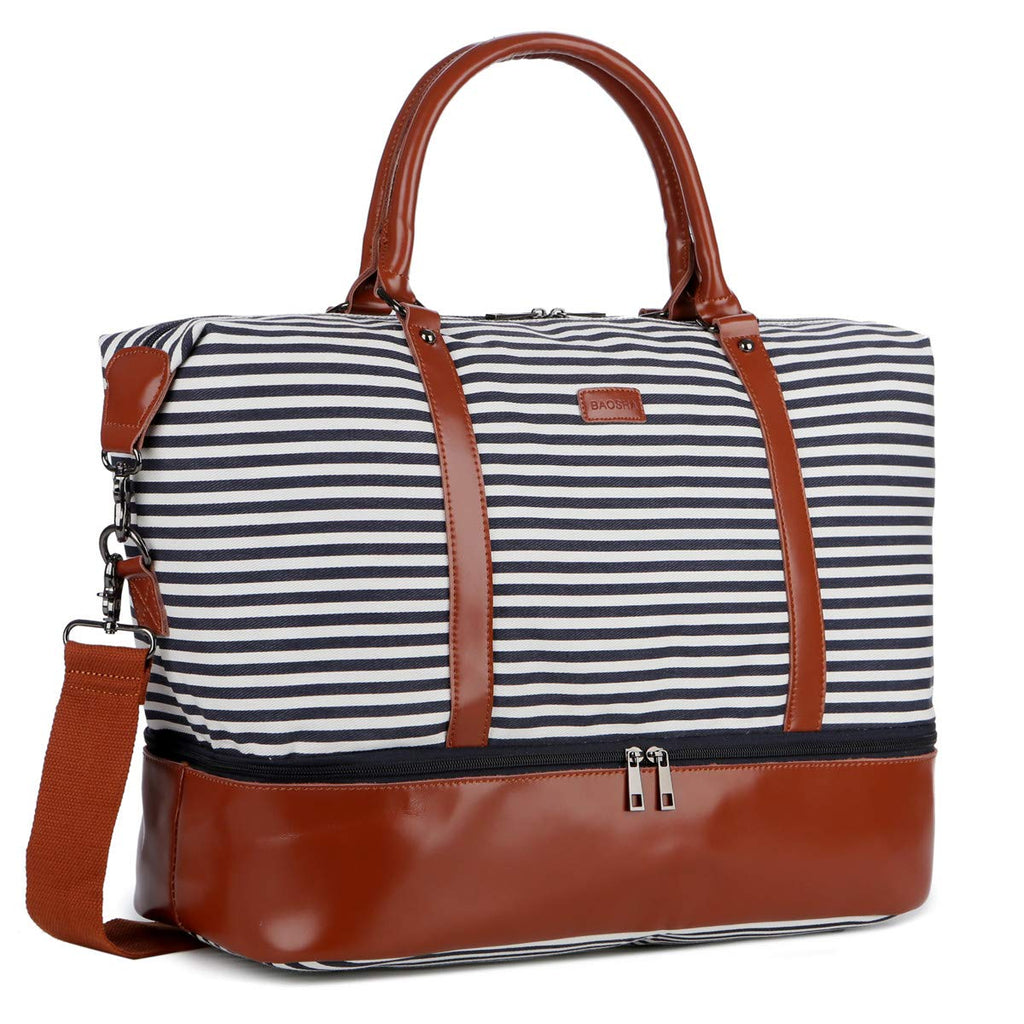 Ladies Women Canvas Travel Weekender Bag Overnight Carry-on Duffel Tote Bag
