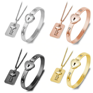 Love Lock Bracelet & Necklace Set