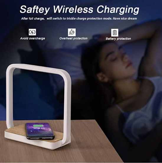 Wireless Charging Cell Phone Desk Lamp