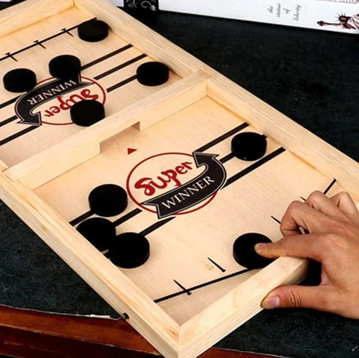 Early Halloween Sale- Save 50% OFF) Wooden Hockey Game