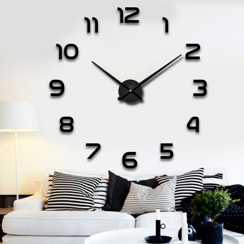 2020 2021 New Wall Clocks 3D DIY Clock Acrylic Mirror Stickers Home Decoration Living Room Quartz Needle Self Adhesive Hanging Watch