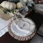 Ruffles Burlap Placemat, Thanksgiving Placemats