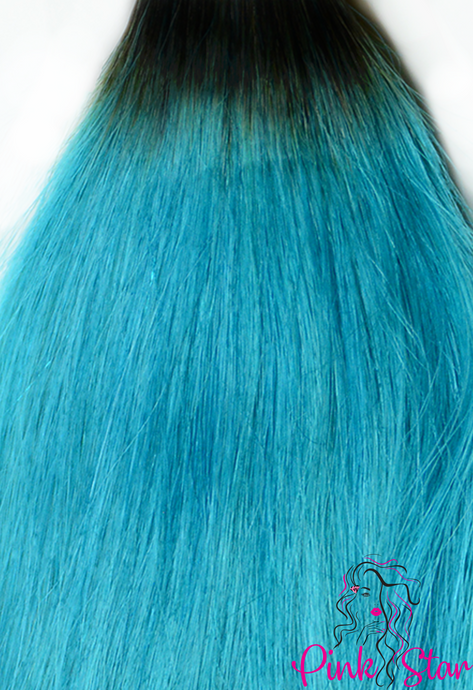 Straight Ombre Bundles 100g No. 1B/Teal - The Pink Star Company