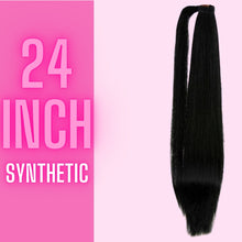 Load image into Gallery viewer, Synthetic Straight Ponytail 24 IN 110g - The Pink Star Company
