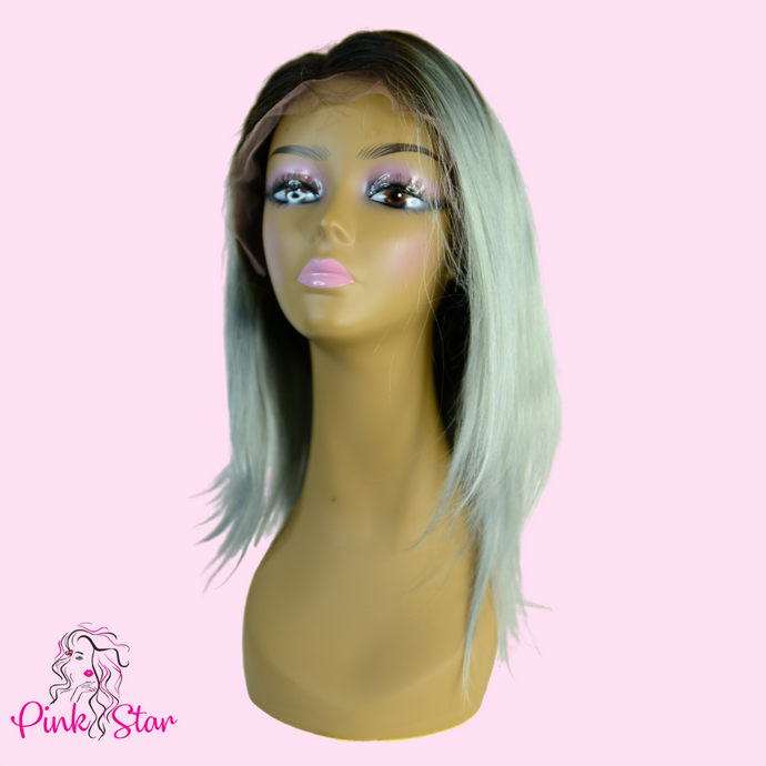 Lace Front Wigs - Silver Grey - The Pink Star Company