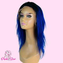 Load image into Gallery viewer, Lace Front Wigs - Blue - The Pink Star Company