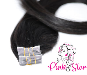 Tape In Extensions 50g (OMBRE 1B / 613) - The Pink Star Company