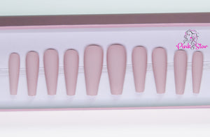 Nude Matte Coffin - Large - The Pink Star Company
