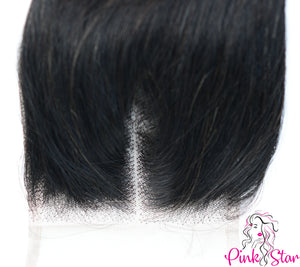 4 X 4 Closure - Body Wave Natural Hair - The Pink Star Company