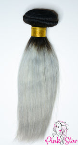Straight Ombre Bundles 100g No. Silver 1B/Grey - The Pink Star Company