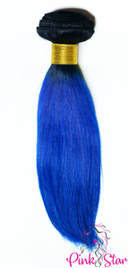 Straight Ombre Bundles 100g No. 1B/Blue - The Pink Star Company