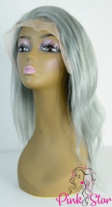 Full Lace Wigs - Silver Grey - The Pink Star Company