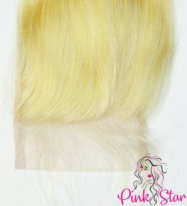 4 X 4 Closure - Straight Blonde 613 Hair - The Pink Star Company
