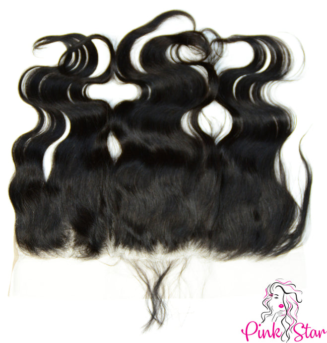 13 x 4 Frontals - Body Wave Natural Hair - The Pink Star Company