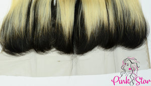 13 x 4 Frontals - Straight  1B / 613 Ombre Hair - The Pink Star Company