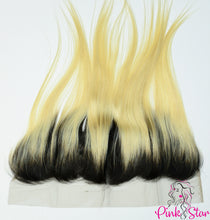 Load image into Gallery viewer, 13 x 4 Frontals - Straight  1B / 613 Ombre Hair - The Pink Star Company