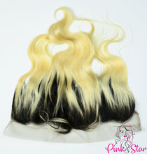 Load image into Gallery viewer, 13 x 4 Frontals - Body Wave 1B / 613 Ombre Hair - The Pink Star Company