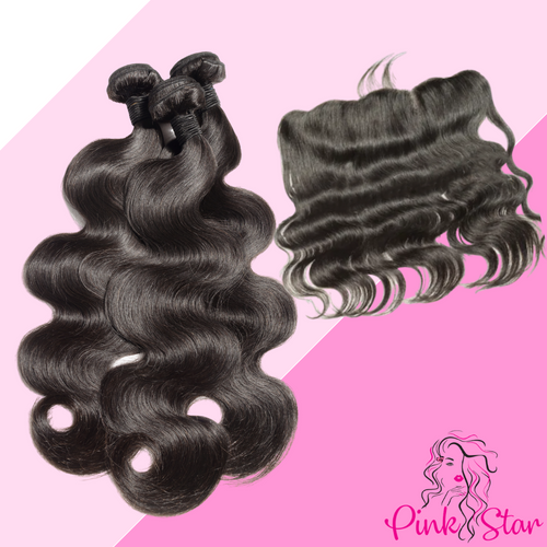 Body Wave Bundles with 13x4 Closure - The Pink Star Company